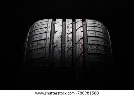 Black rubber tire #780981580