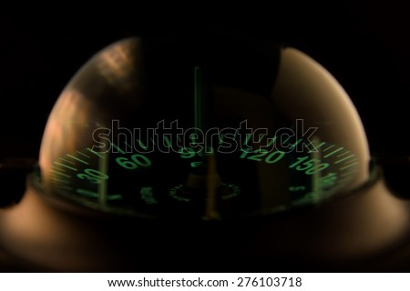 Black sailing and boat Compass in different angle Black sailing and boat Compass in different angle