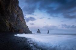 Black Sand Beach of Iceland