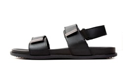 Black Sandal on white background