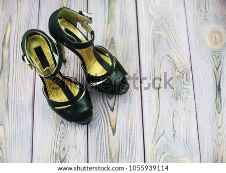 black sandals with high heels #1055939114