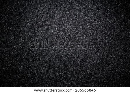 black sandpaper texture background. #286565846