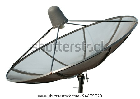 black satellite isolated