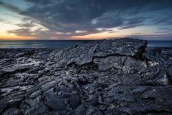 Black scenery of Lava fields