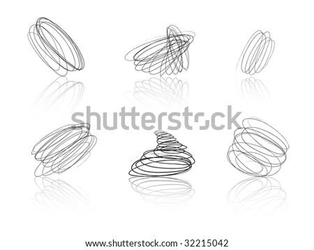 Black scribble balls - thread tufts