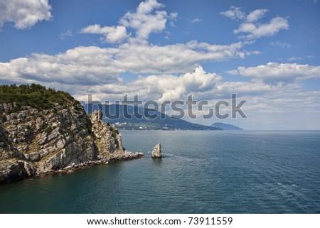 Black sea beautiful landscape