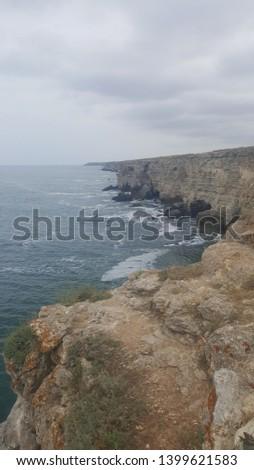 Black Sea coast with cloudy sky
