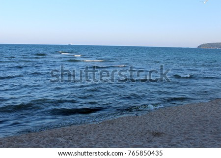 Black Sea view in Varna, Bulgaria. Popular touristic european destination. Landscape #765850435