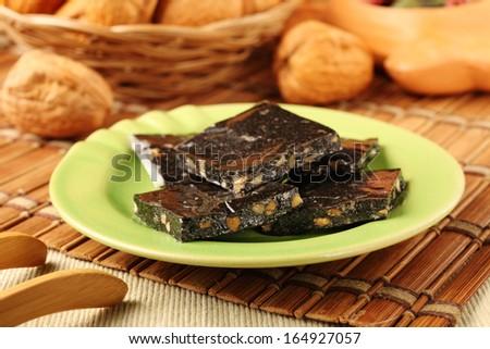 Black sesame rice cake -  healthy food