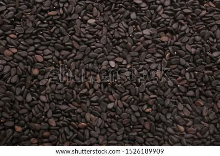 Black sesame seeds, for backgrounds or textures #1526189909