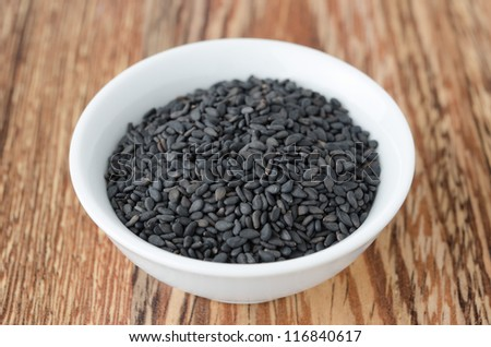 black sesame seeds in a bowl