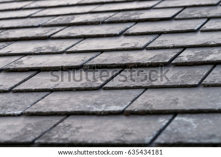 black shingles, roof tile