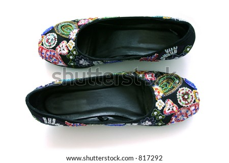 Black Shoe with Beads