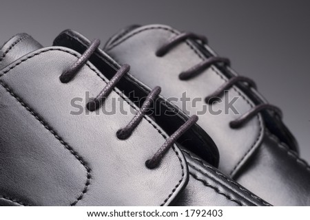 Black shoes isolated on a white background