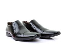 black shoes isolated on white background.