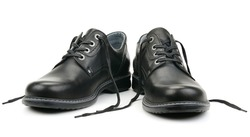 Black shoes isolated on white background