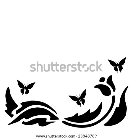 Clipart Flower Outline. border, design, square,