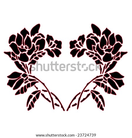 clipart hearts and roses. pink heart clipart