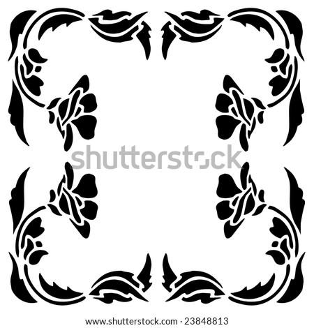 clipart picture frames. clip art flowers border.