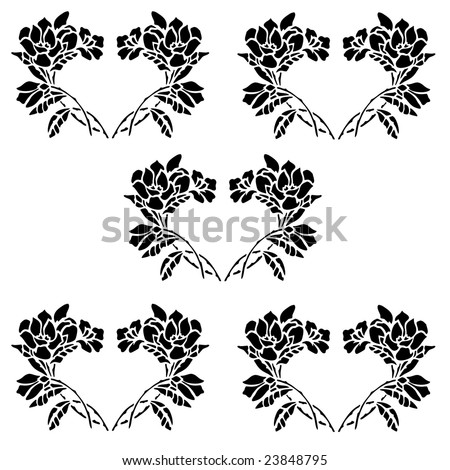 clip art flowers outline. clipart borders and frames.