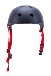 Black Skateboard Helmet Front View Cut Out.
