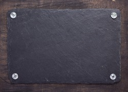 black slate stone texture as suface background, top view