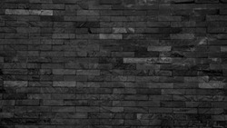Black slate wall texture and background, old vintage