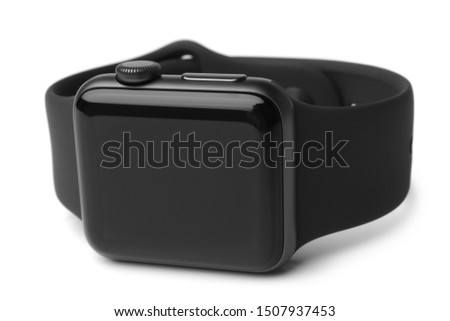 Black smart watch on white background #1507937453