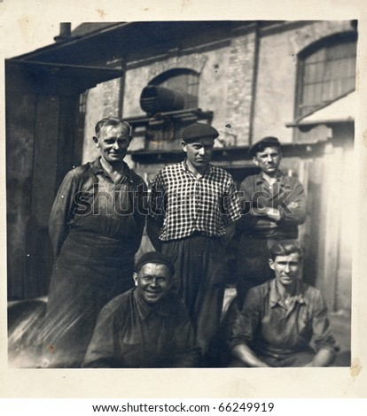 black smith s crew  about 1950  ...