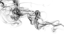 Black smoke on white background