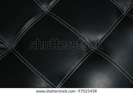 Black Sofa leather texture background.
