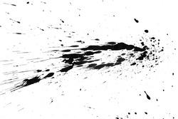Black splashes. On a white background .