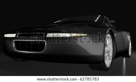 Black sport car - front perspective view #62785783