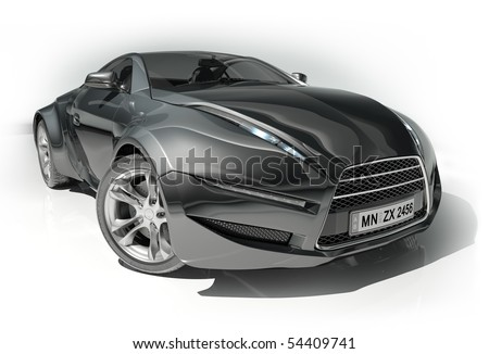 Sport Cars on Black Sports Car Isolated On White Background  My Own Car Design