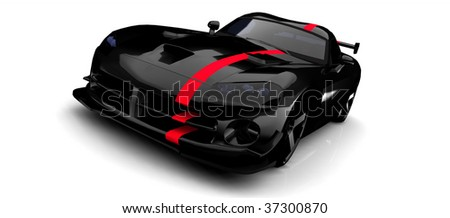 black sports car with red