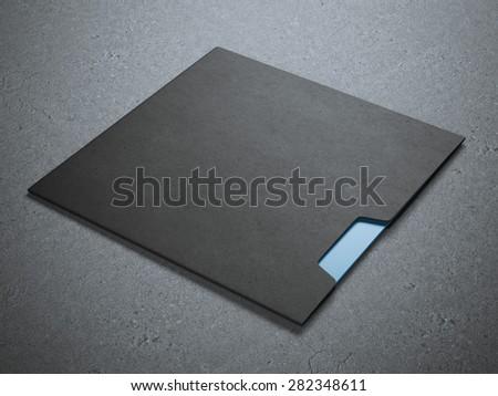 Black square envelope