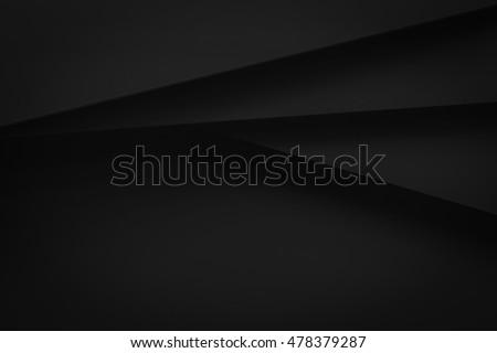 black stack paper material layer background 3d render