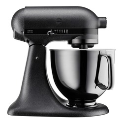 Black Stand Mixer Isolated. Electric Kitchen Small Appliances. Modern Kitchen Device Accessory. Front Side View Multi-Task Blender.