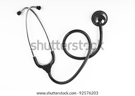 black stethoscope isolated on white background #92576203