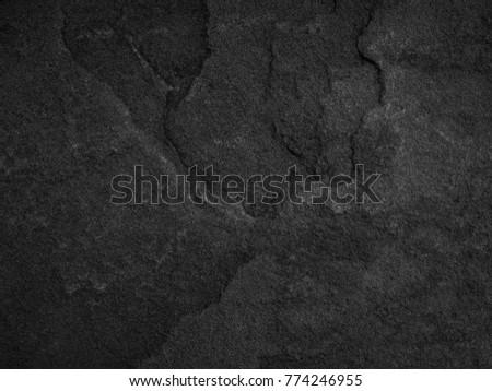 Black stone, slate texture background. - Shutterstock ID 774246955