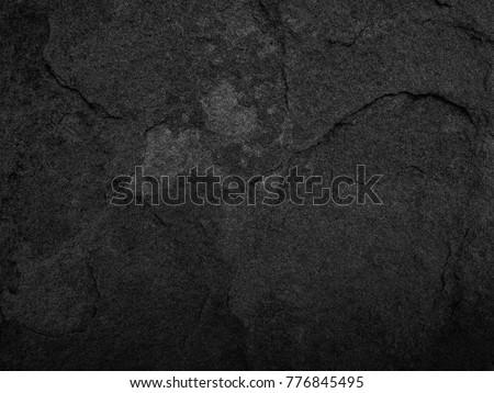 Black stone, slate texture background. - Shutterstock ID 776845495