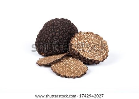 Black summer truffle Tuber Aestivum Foto stock ©