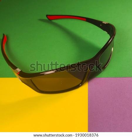 Black sun glasses close up Stok fotoğraf ©