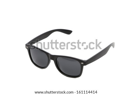 Black sun glasses. Isolated on a white background.