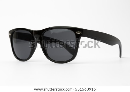 Black sunglasses isolated #551560915