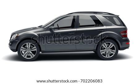Black SUV 3d illustration