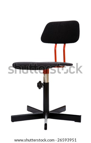 black swivel chair on white background