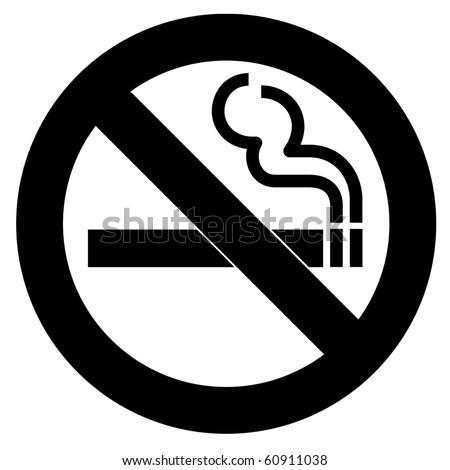 Black Symbol of no smoking zone