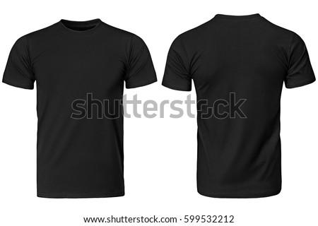 black t shirt  clothes on...