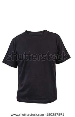 Black T-shirt. Front.
